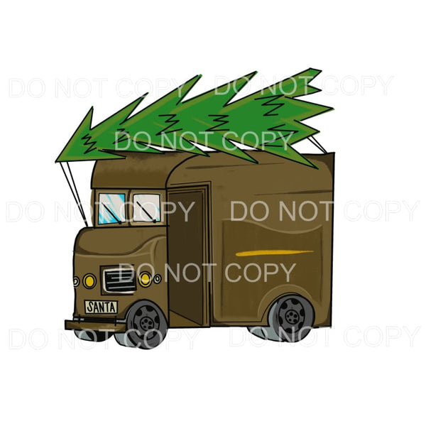 UPS Truck Christmas Tree Sublimation transfers - Heat