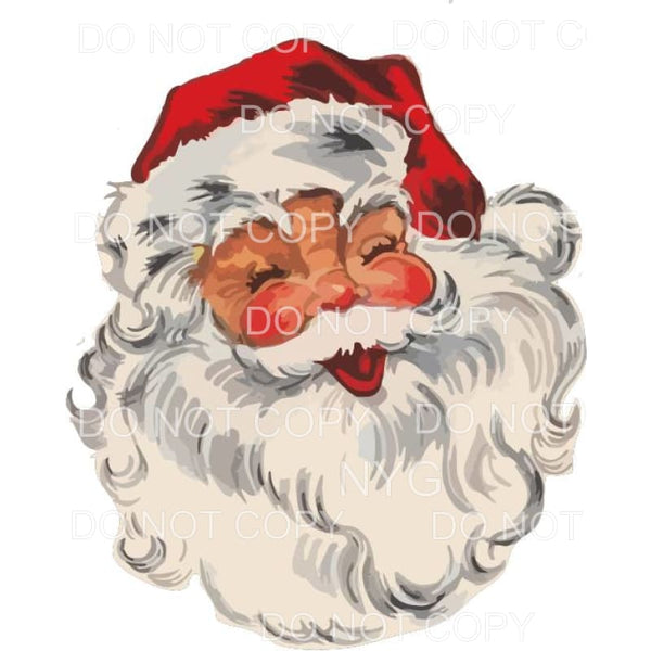 Vintage Jolly Santa Sublimation transfers - Heat Transfer