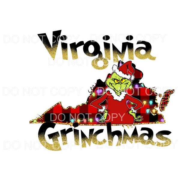 Virginia Grinchmas Sublimation transfers - Heat Transfer