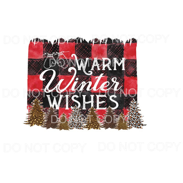 Warm Winter Wishes # 1 Sublimation transfers - Heat Transfer