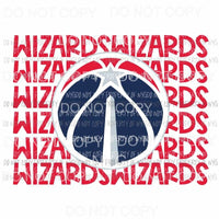 Washington Wizards stacked Sublimation transfers Heat Transfer