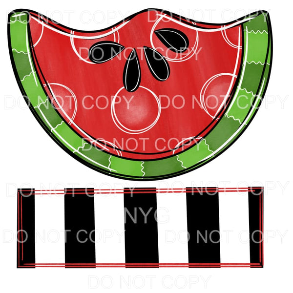 Watermelon Black Stripe Blank Banner Sublimation transfers -
