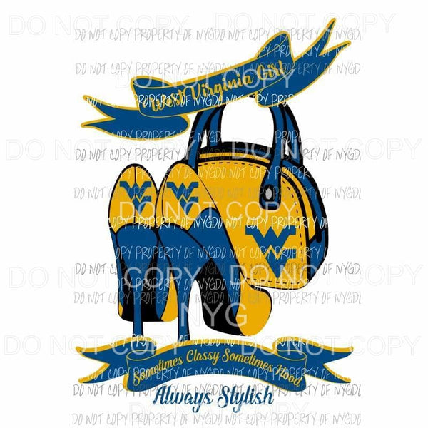 West Virginia Heels Sublimation transfers Heat Transfer