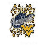 West Virginia mountaineers state Sublimation transfers -