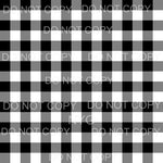 White Black Buffalo Plaid Sheet Sublimation transfers - Heat