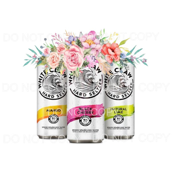 White Claw 3 cans Sublimation transfers - Heat Transfer