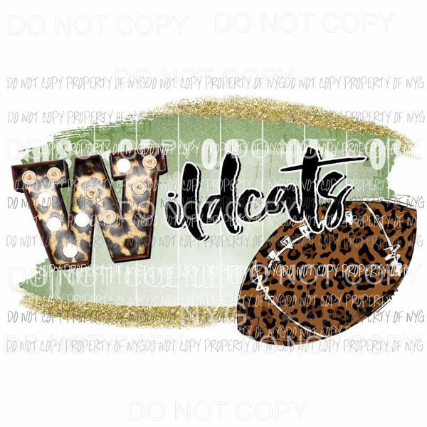 Wildcats football field leopard Sublimation transfers Heat Transfer