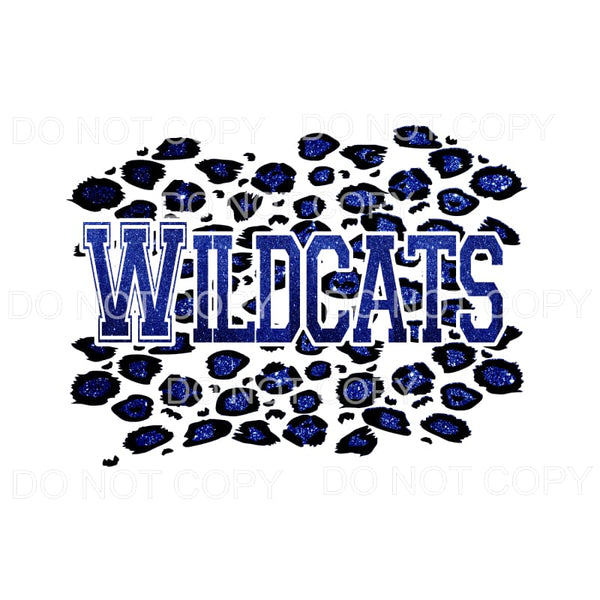 Wildcats Leopard Varsity Letters Sublimation transfers -
