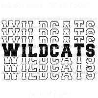 Wildcats mirrored Sublimation transfers Heat Transfer