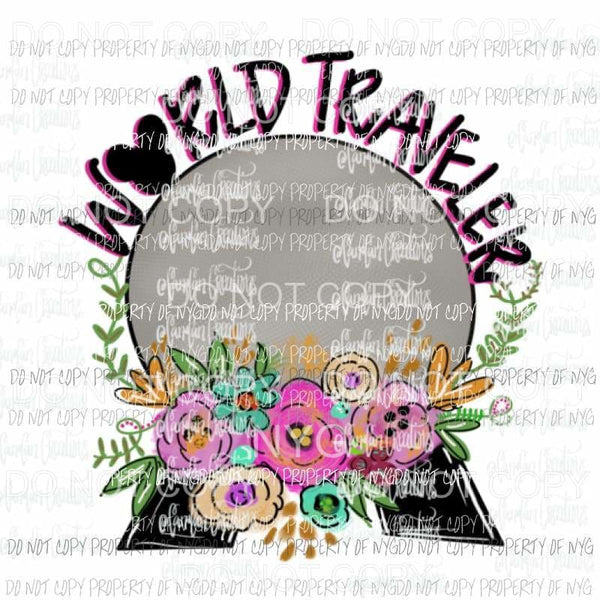 World Traveler Disney Hand Drawn Sublimation transfers Heat Transfer
