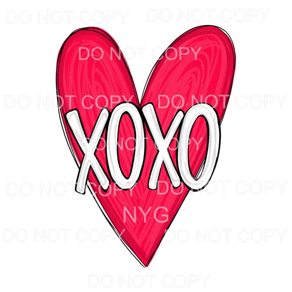 XOXO Red Heart Sublimation transfers - Heat Transfer