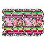 XOXO Serape Leopard Sublimation transfers - Heat Transfer