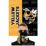 Yellow Jacket Mask Covering as shown choose 13 x 18 go get