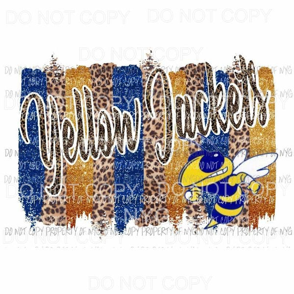 yellow Jackets Paint pallet Blue and gold Sublimation transfers Heat Transfer