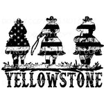 Yellowstone Flag cowboys Black Sublimation transfers - Heat