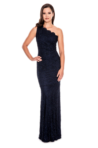 One Shoulder Full Length Gown