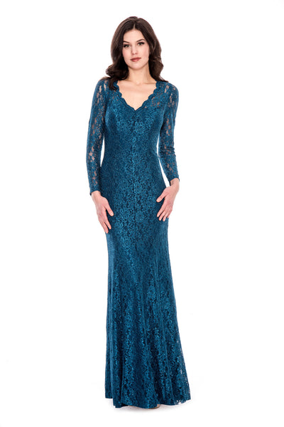 Long Sleeve Glittery Gown By Decode 1.8