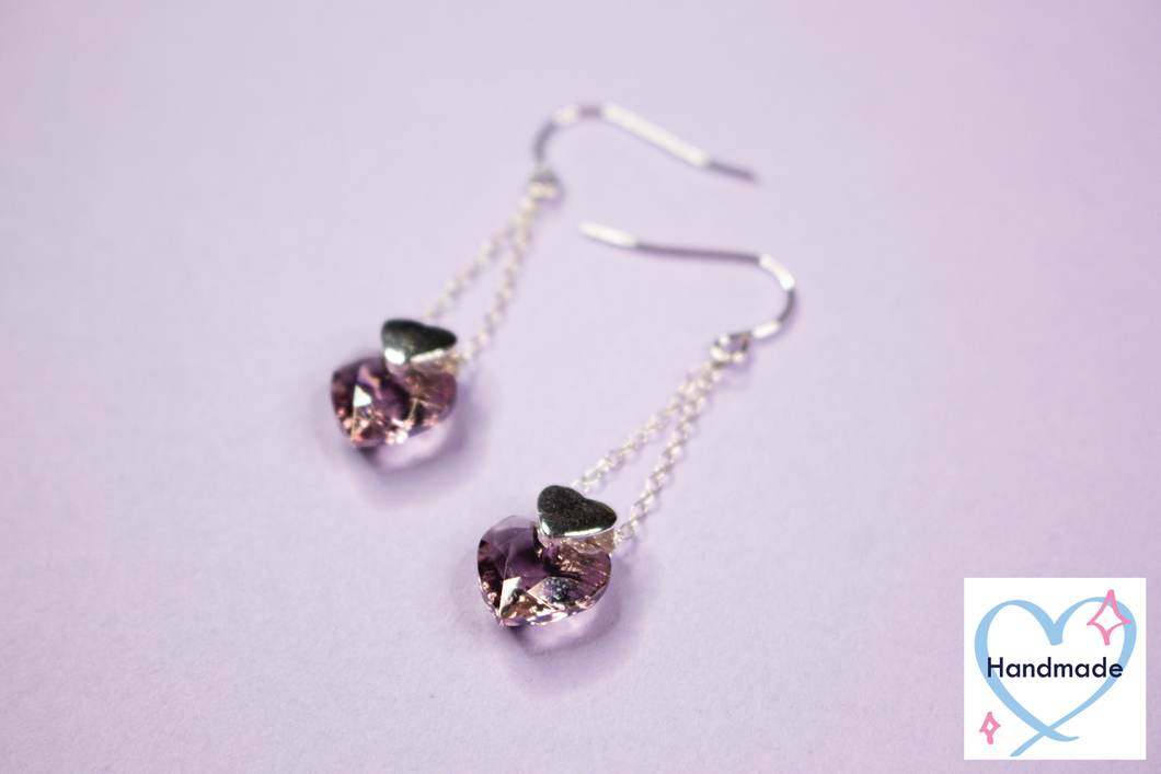 Heart Crystal Earrings (additional colors available!)