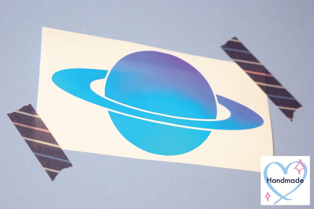 Holographic Planet Sticker