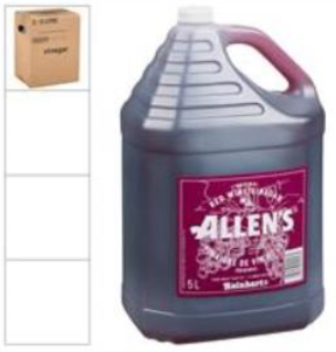 ALLENS VINEGAR RED WINE (2/5LT)