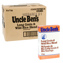 Load image into Gallery viewer, UNCLE BEN RICE LONG GRAIN & WILD (6/1KG)