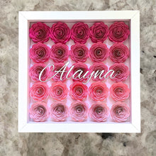Load image into Gallery viewer, Paper Flower Frame + Monogram Name