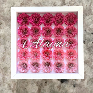 Paper Flower Frame + Monogram Name