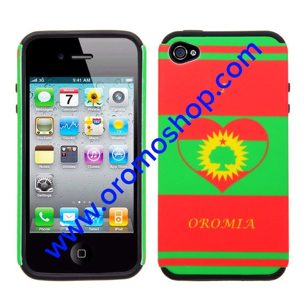 I Love Oromia ABO Flag Design Iphone 4S Case