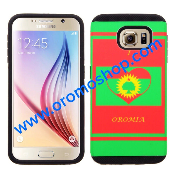 I Love Oromia,ABO Flag Design for Samsung Galaxy 6 Cellphone Case