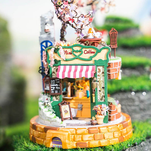 DIY Magical Cafe Glass Dollhouse