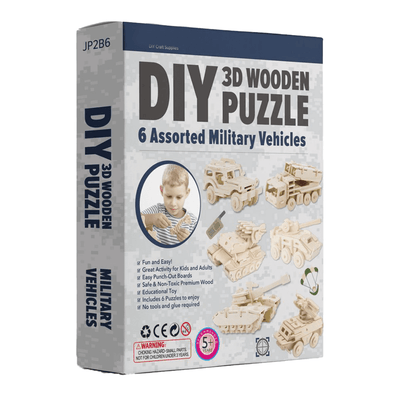 DIY 3D Puzzle Bundle Set Military Vehicles 6 Pack
