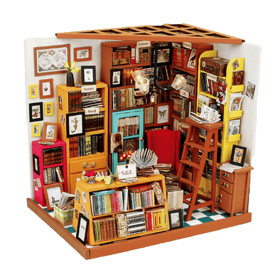 DIY Library Sam's Study Dollhouse