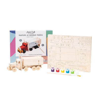 DIY Truck 3D Wooden Puzzle Paint Kit