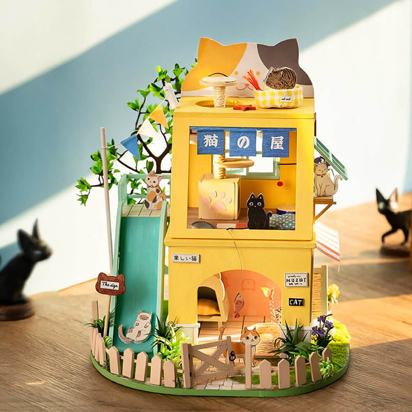 DIY Cat House Dollhouse