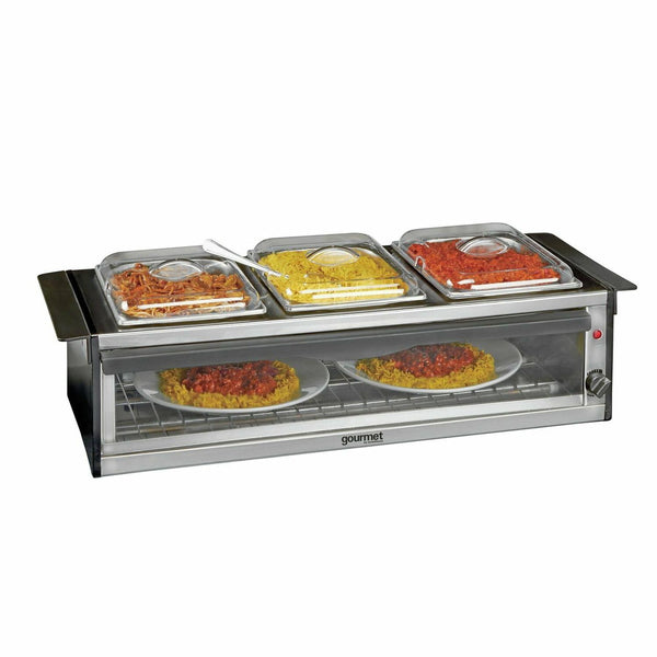 Global Gourmet Hostess Serving Station with Plate Warmer