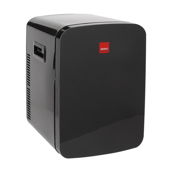 Sensio Home 15L Mini Fridge Cooler & Warmer | AC+DC Power - 12v, UK & EU Plug (Black)