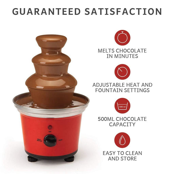 Global Gourmet Belgian Chocolate Fountain Fondue Large Set | 500ml Capacity