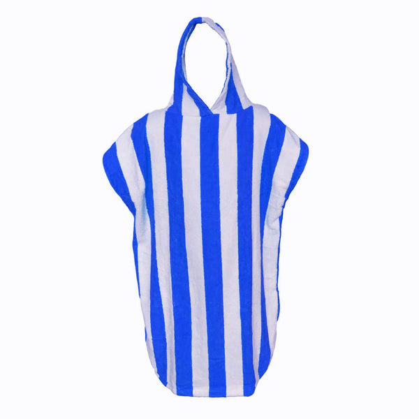 Sensio Home Hooded Poncho Towel | Changing Bath Robe | 450 GSM (Blue)