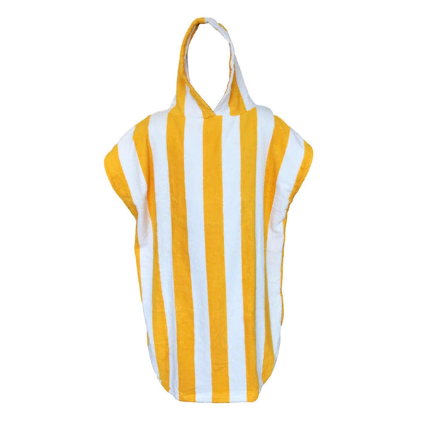 Sensio Home Hooded Poncho Towel | Changing Bath Robe | 450 GSM (Yellow)