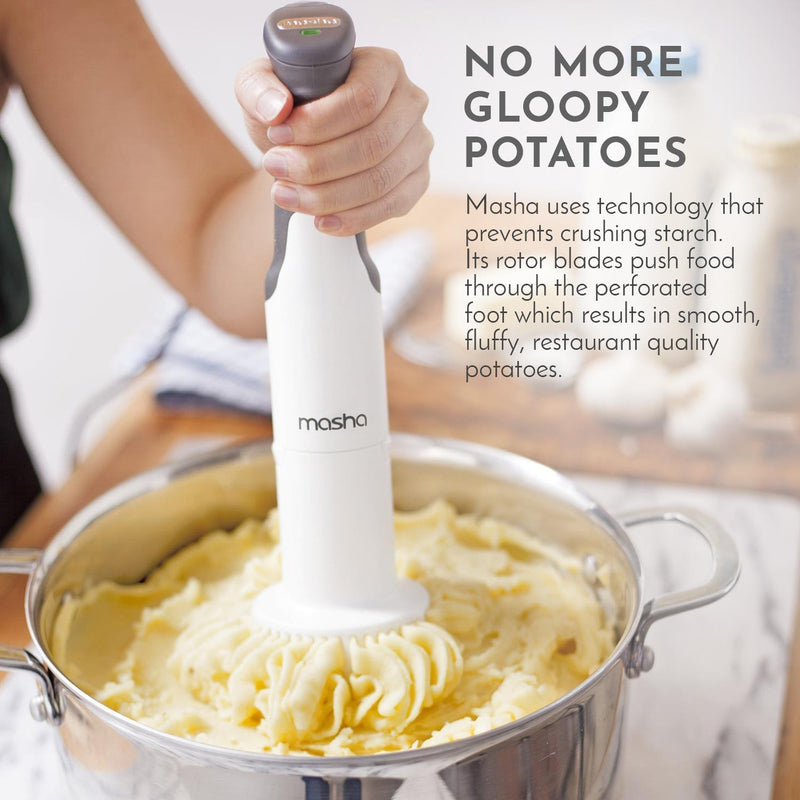 Masha Official Electric Potato Masher | Hand Blender 3-in-1 Set Multi Tool - Blends, Purees and Whisks