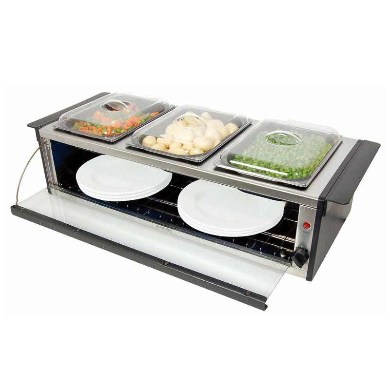 Global Gourmet by Sensio Home Hostess Serving Station with Plate Warmer