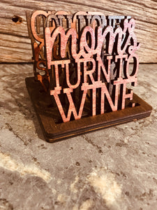 Mom Coasters with Holder