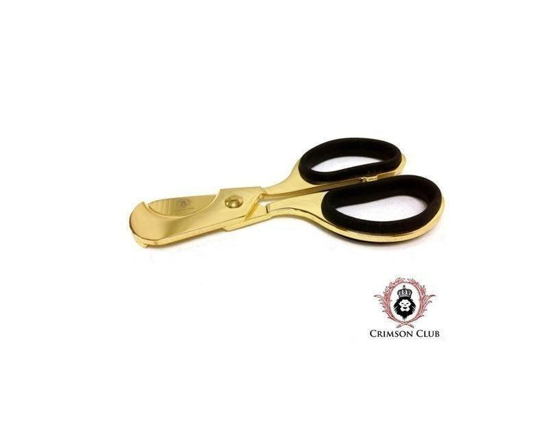 Crimson Club Cigar Scissors - Gold
