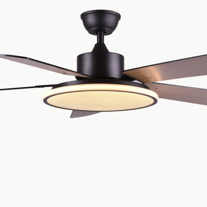 56 Inch LED chCeiling Fan Light Nordic Modern Dinning Room Bedroom Living Room Restaurant Solid Wood Fan Lamp Free Shipping