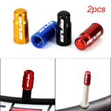 2pcs Aluminum Bicycle Tire Valve Cap Ultralight Mountain Road Bike Tyre Cap Schrader/Presta Tire Valve Protector MTB Accessories