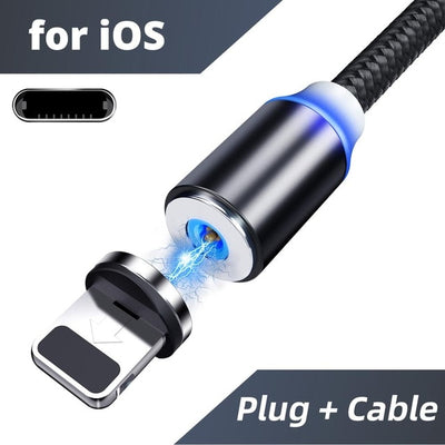 magnetic charging cable 3in1 for ios