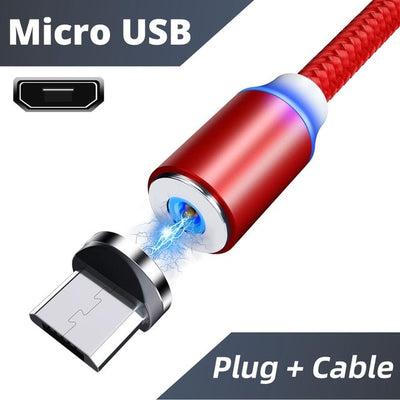 usb magnetic charging cable 3in1
