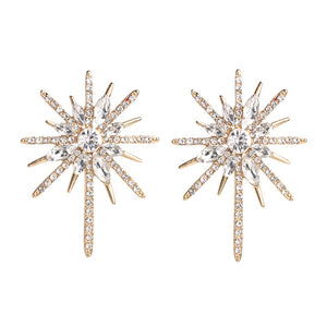 Crystal Earring Stud Snowflake Earrings