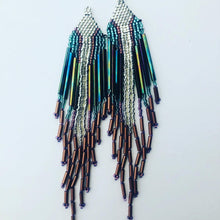 Load image into Gallery viewer, Silver and Turquoise Fringe and Free