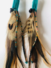 Load image into Gallery viewer, Turquoise and Wood Common Feather